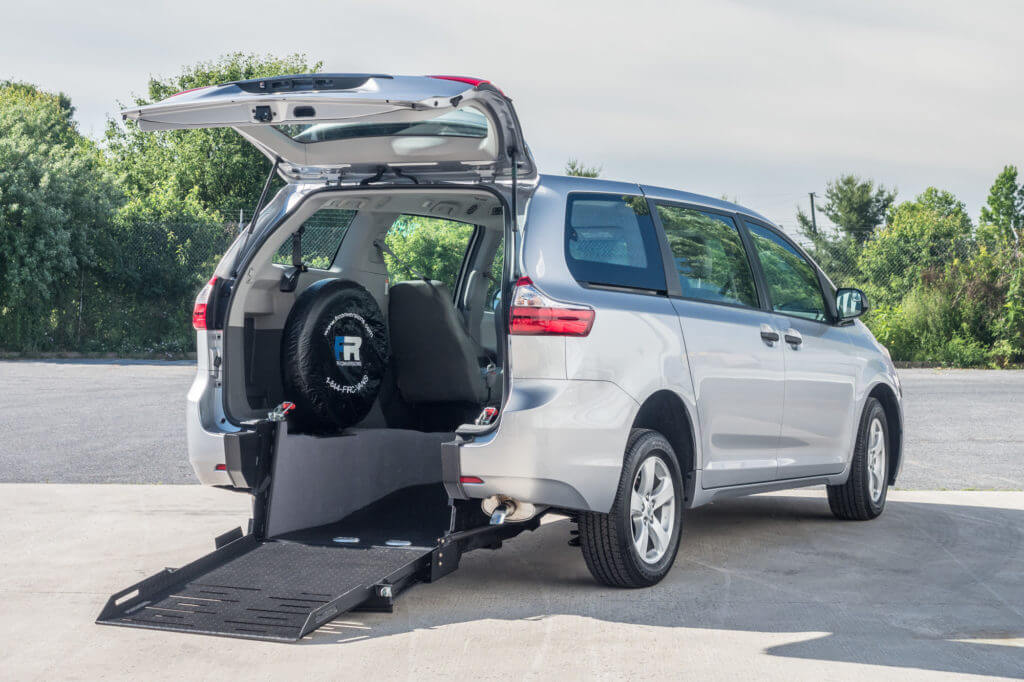 Toyota Sienna rear entry conversion mini van
