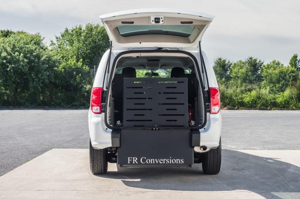 Dodge Caravan Rear entry wheelchair accessible conversion mini van